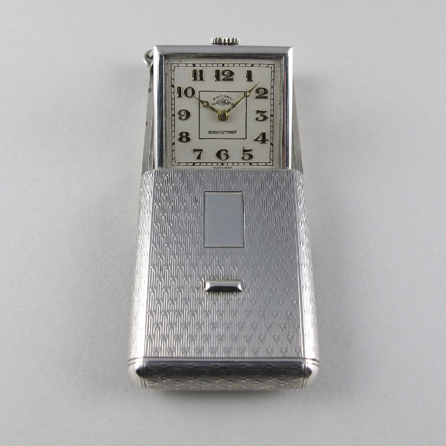 Rotary silver vintage travelling watch, hallmarked 1934