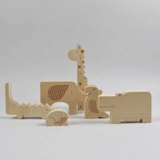 Safari Jumble Wooden Blocks