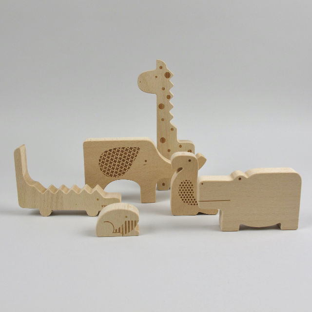 Safari Jumble Wooden Blocks