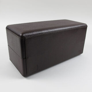 Scatola del Tempo dark brown leather watch box for 8 watches