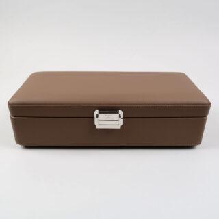 Scatola del Tempo Valigetta 4 Taupe Leather Watch Case
