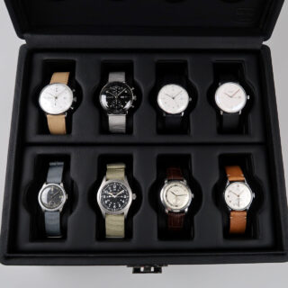 Scatola del Tempo Valigetta 8   leather watch case for eight watches