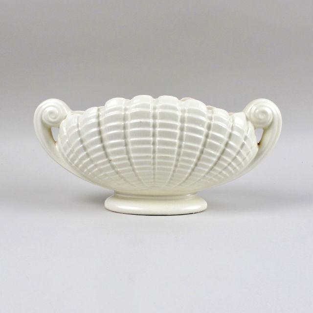 Vintage Scroll Design Ceramic Planter