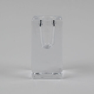 Single glass candlestick