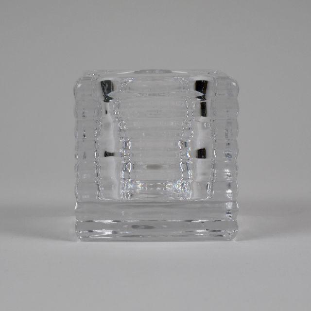 Ridged Glass Tealight Holder