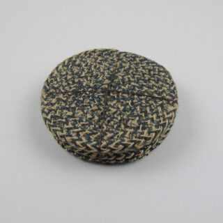Set of 4 Woven Jute Coasters - Olive