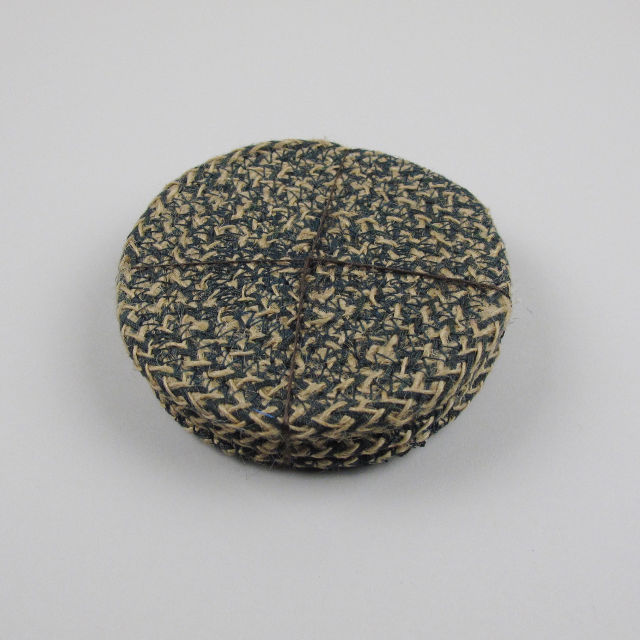 Set Of 4 Woven Jute Coasters Olive Black Bough Ludlow