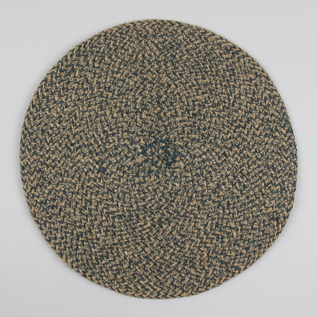 Set of 4 Woven Jute Placemats - Olive green