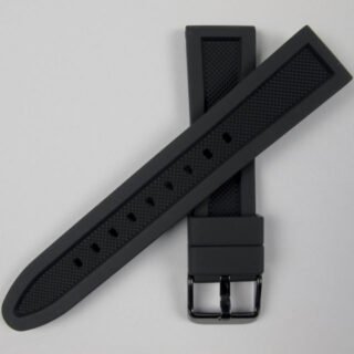 Silicone rubber reversible watch strap 18mm-24mm