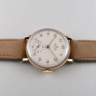 Smiths De Luxe Ref. A501 hallmarked 1952 | 9ct gold hand wound vintage wristwatch
