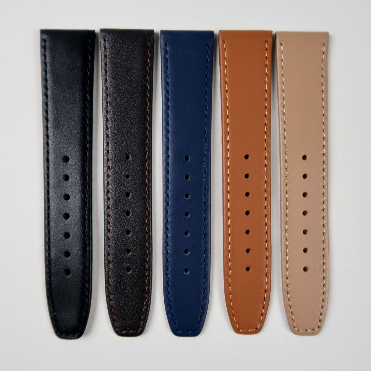 Smooth calf leather watch straps