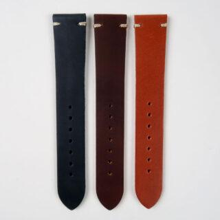 Smooth matt lightly oiled watch strap