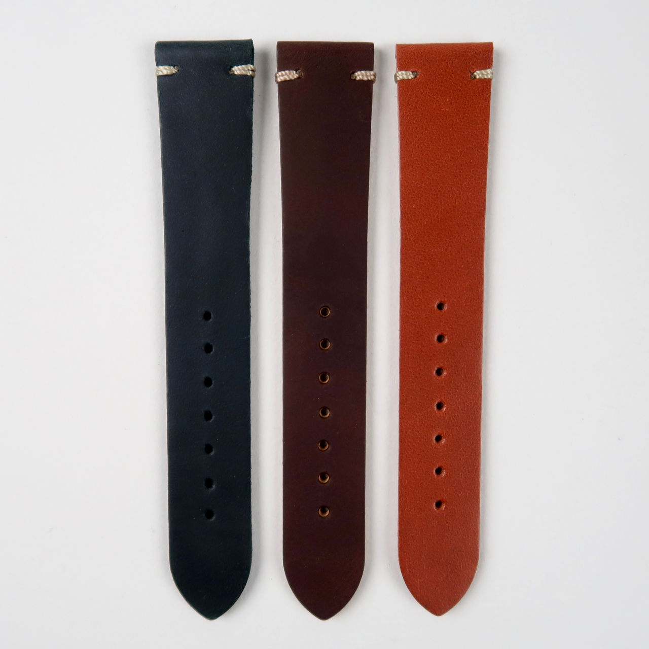 Smooth matt lightly oiled watch strap