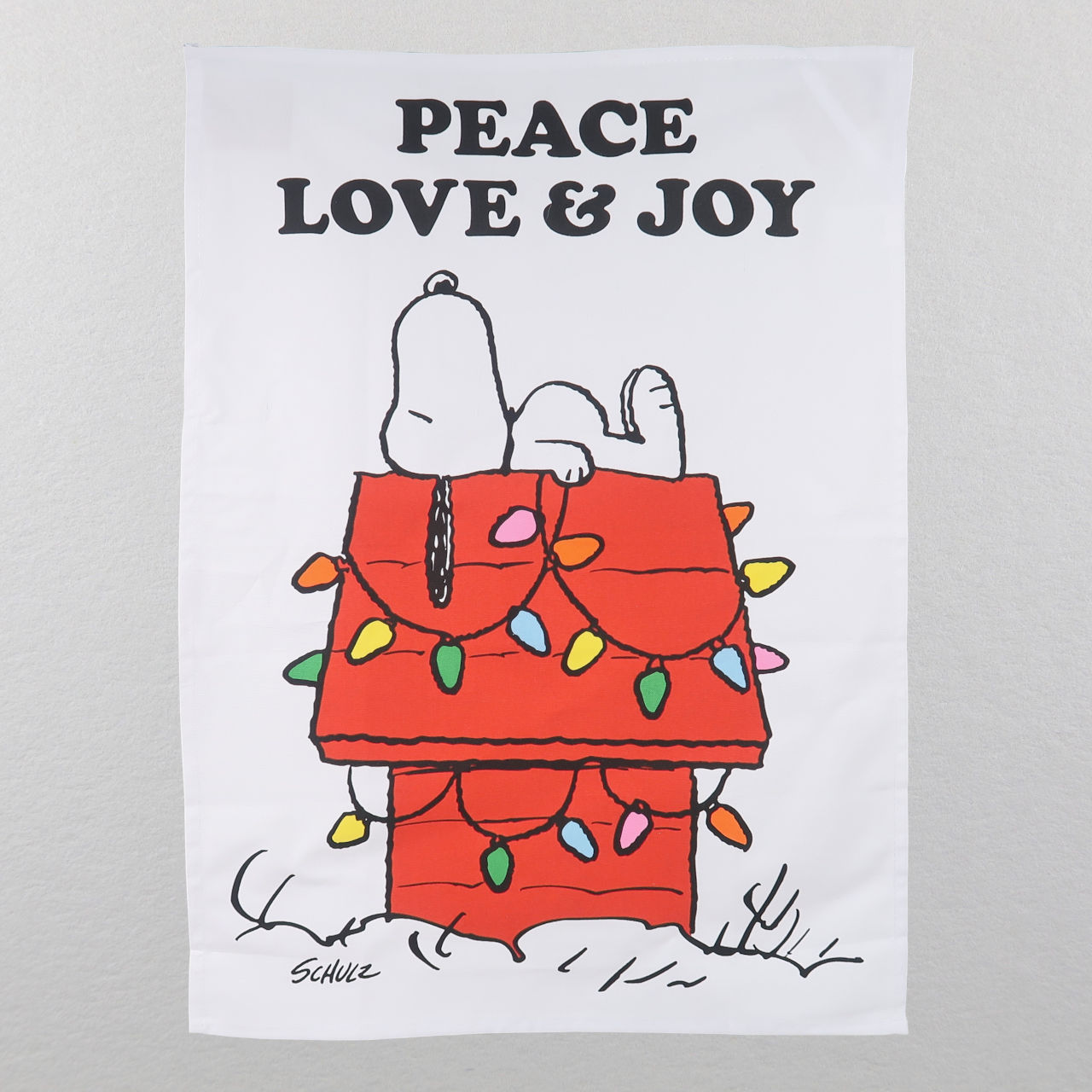 Peanuts Holiday Tea Towel