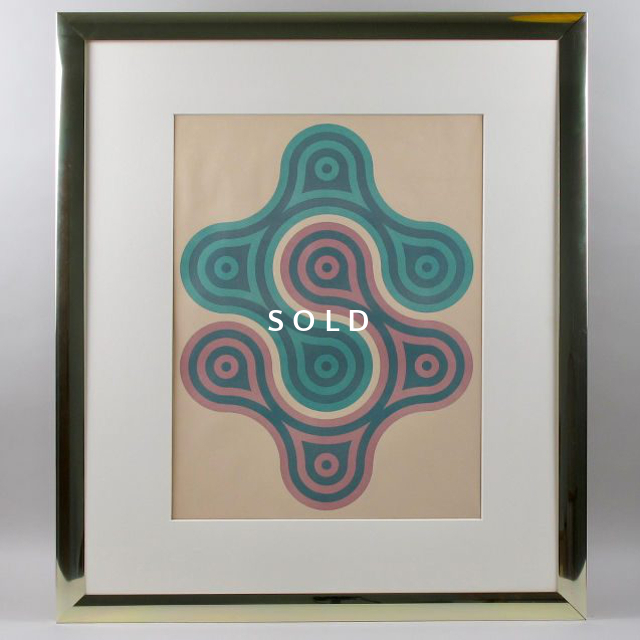 Framed Screen Print - Turquoise/Pink