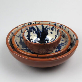 Terracotta Splatterware Bowl - Medium