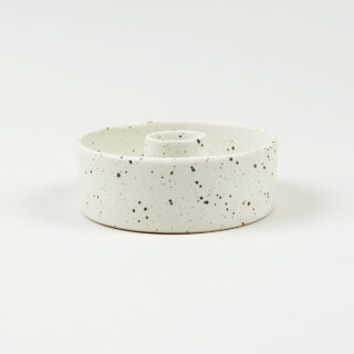 Dinner Candle Holder - Stone Speckle