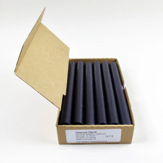 Box of 12 Candles - Charcoal
