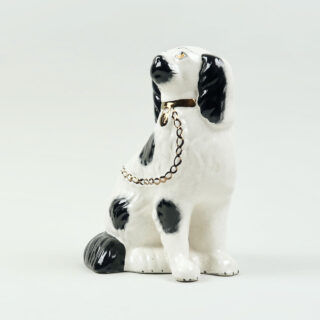 Pair of Seated Staffordshire Spaniels