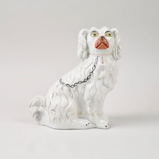 Staffordshire Dog with Yellow Eyes