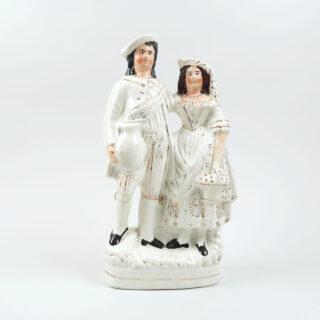 Staffordshire flatback couple