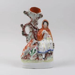Staffordshire Spill Vase - Little Red