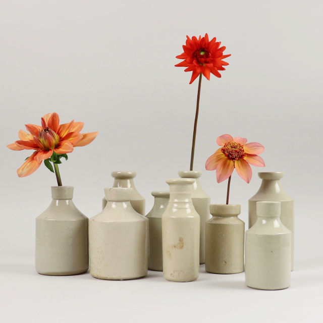 Stoneware ink bottles