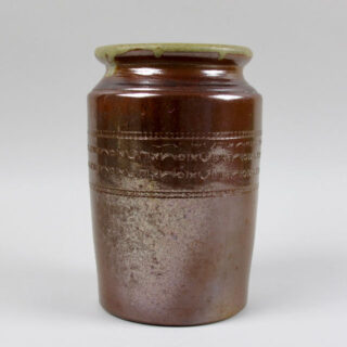 Tin-Glazed Stoneware Jar with Incised Decoration