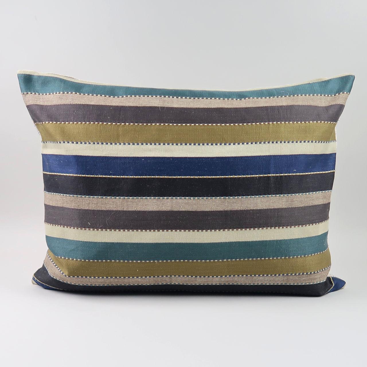 Rectangular cushion in Heavy Stripe Fabric