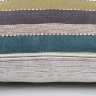 Rectangular cushion in Heavy Stripe Fabric