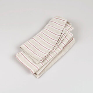 stripe napkin ruby 01