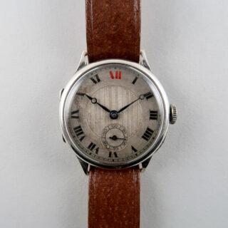 Swiss, hallmarked 1929-30   silver manually wound wristwatch