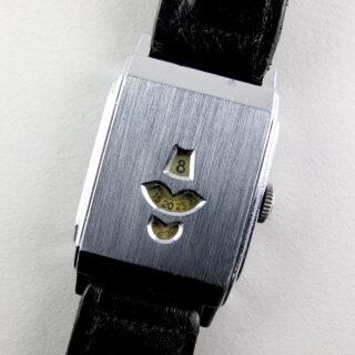 Swiss nickel-chrome vintage wristwatch, circa 1935