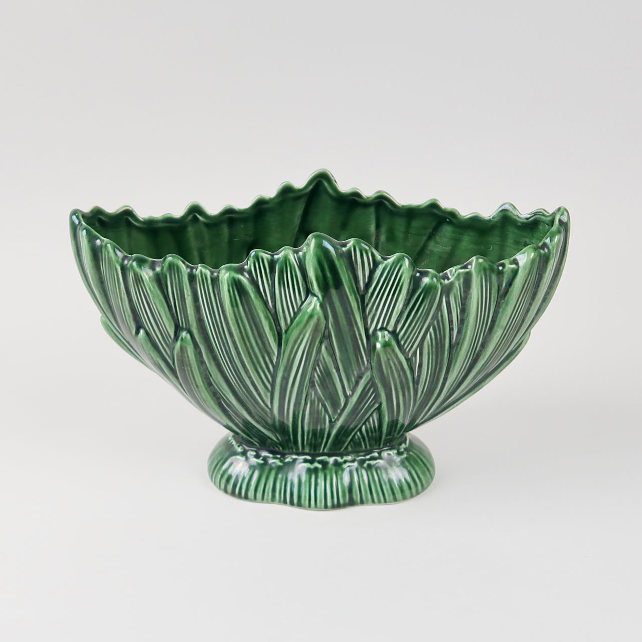 Green Hyacinth Pattern Vase by SylvaC