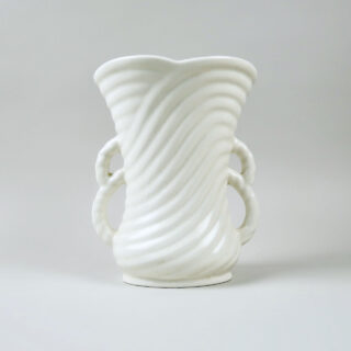 SylvaC Rope Twist White Vase with Flower Holder