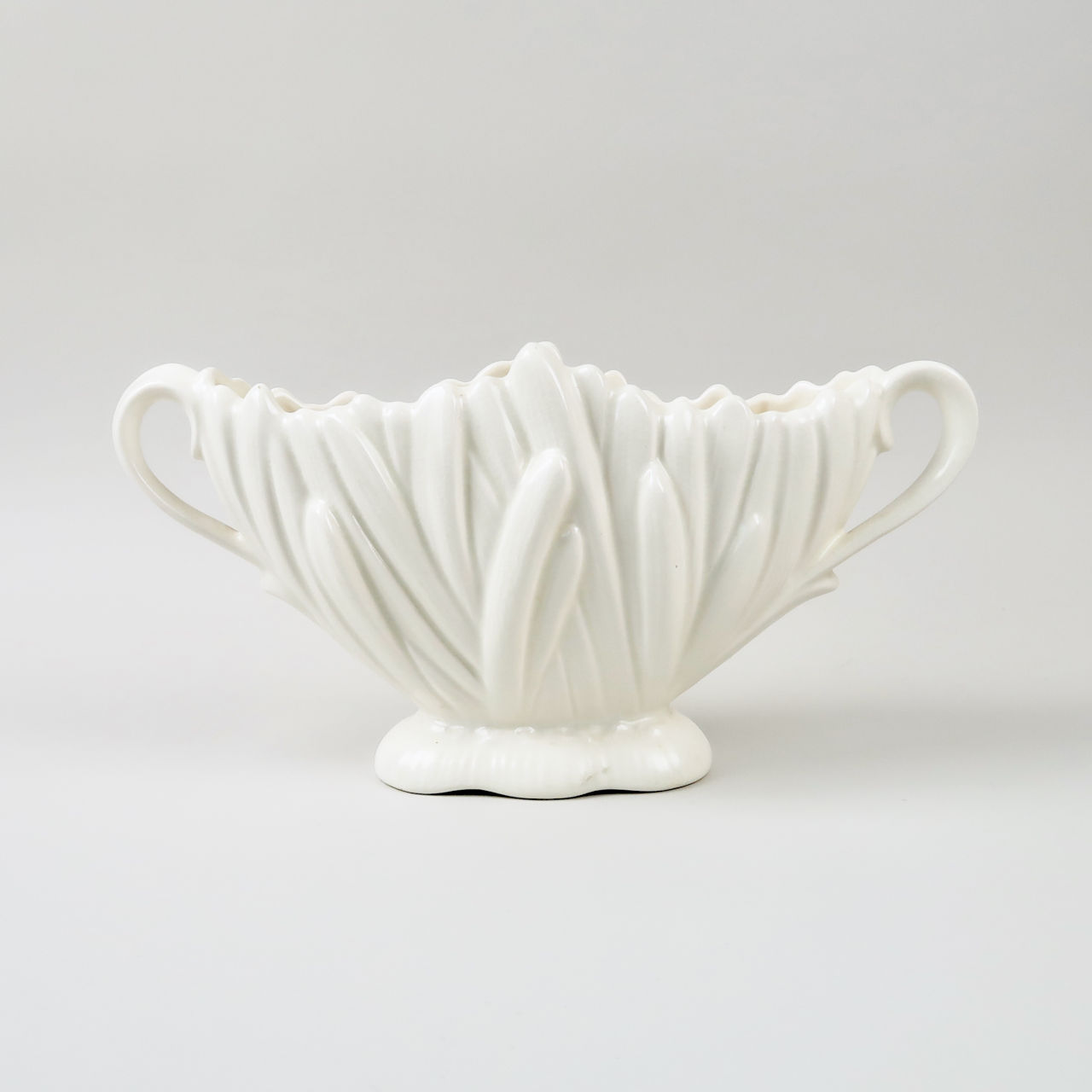 SylvaC White Hyacinth Vase with Handles
