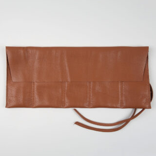 Tan leather watch wrap