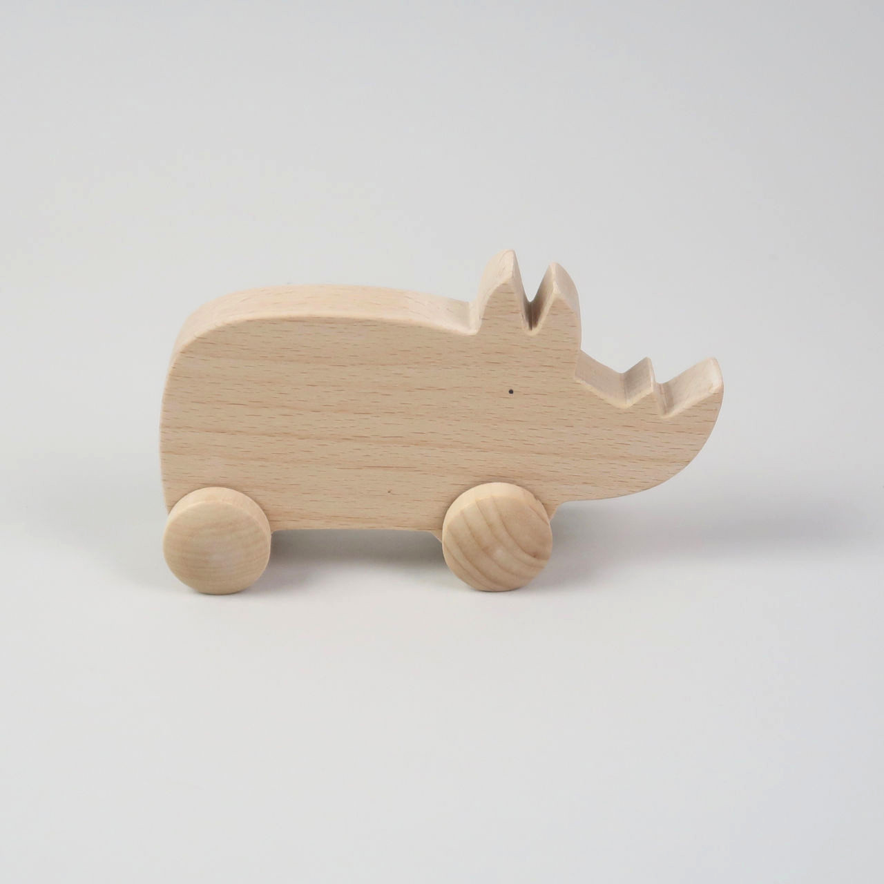 Wooden Rhino Toy