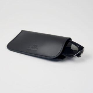 Leather Glasses Case - Black