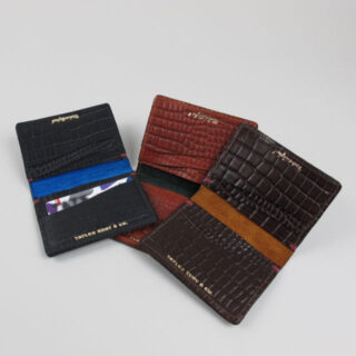 Leather Card Case with Crocodile Grain by Taylor Kent