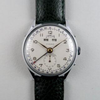 Telda chrome and steel vintage wristwatch, circa 1950