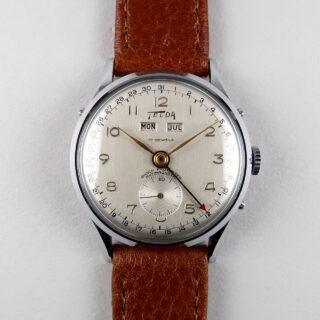 Telda circa 1950 | chrome & steel manual vintage wristwatch