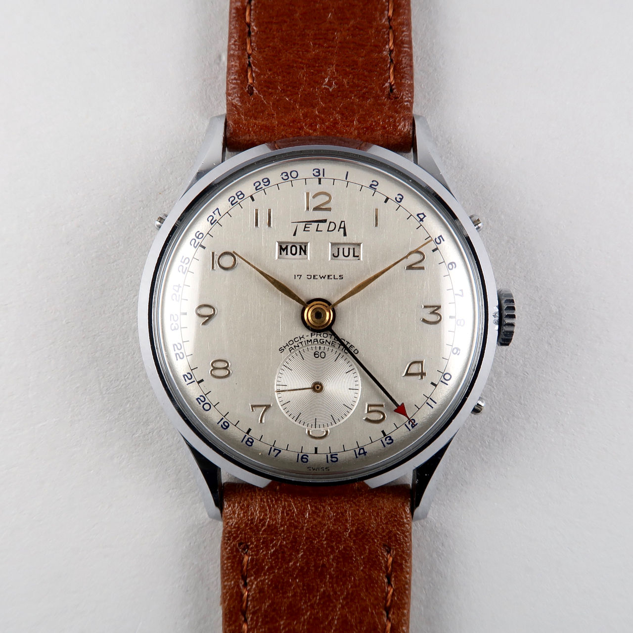 Telda circa 1950 | chrome & steel manual vintage wristwatch