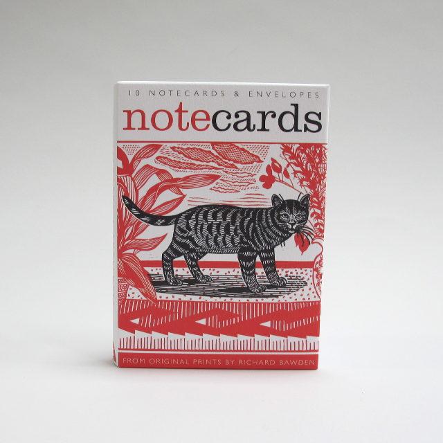 Ten blank notecards by Richard Bawden