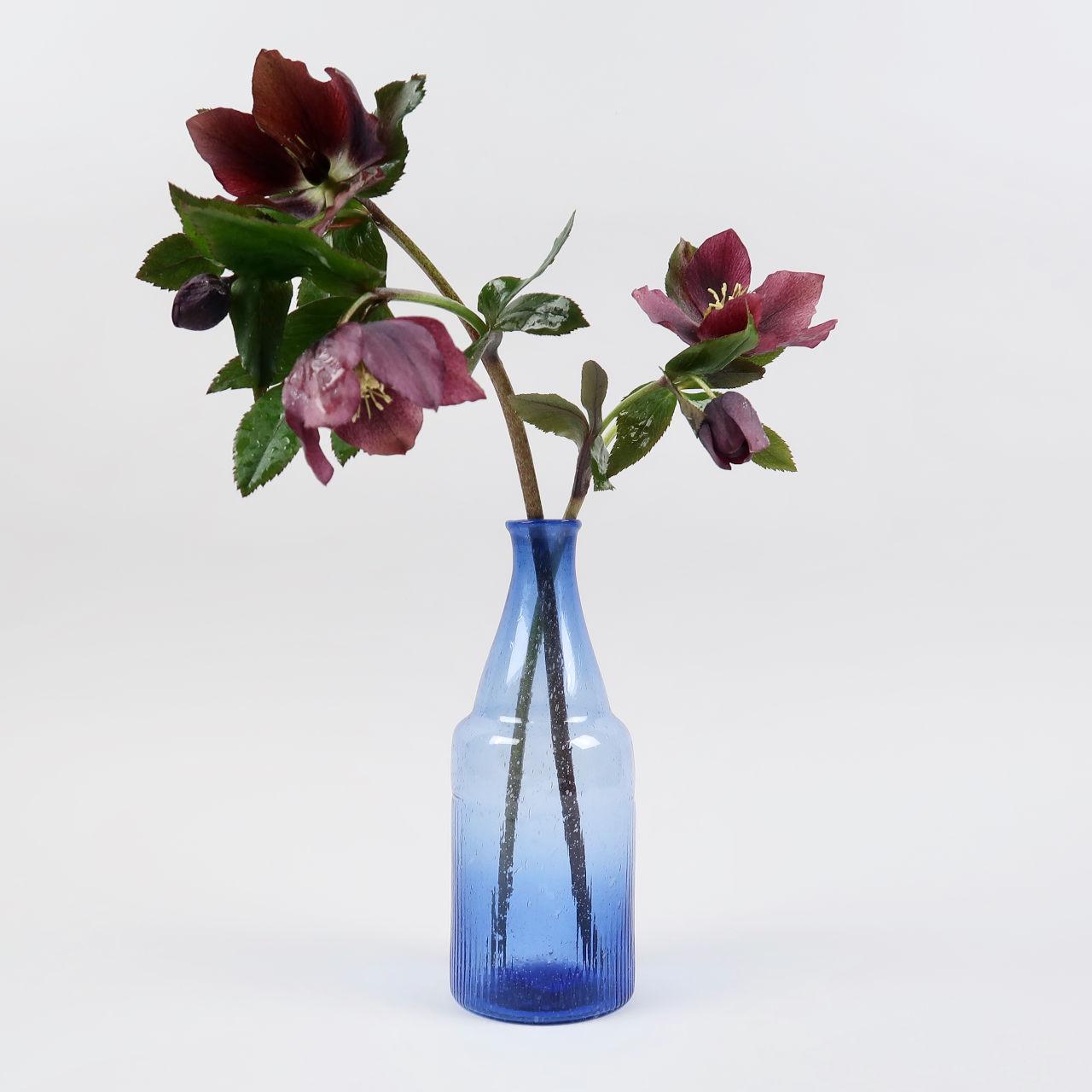 Bottle Vase - Cobalt Blue