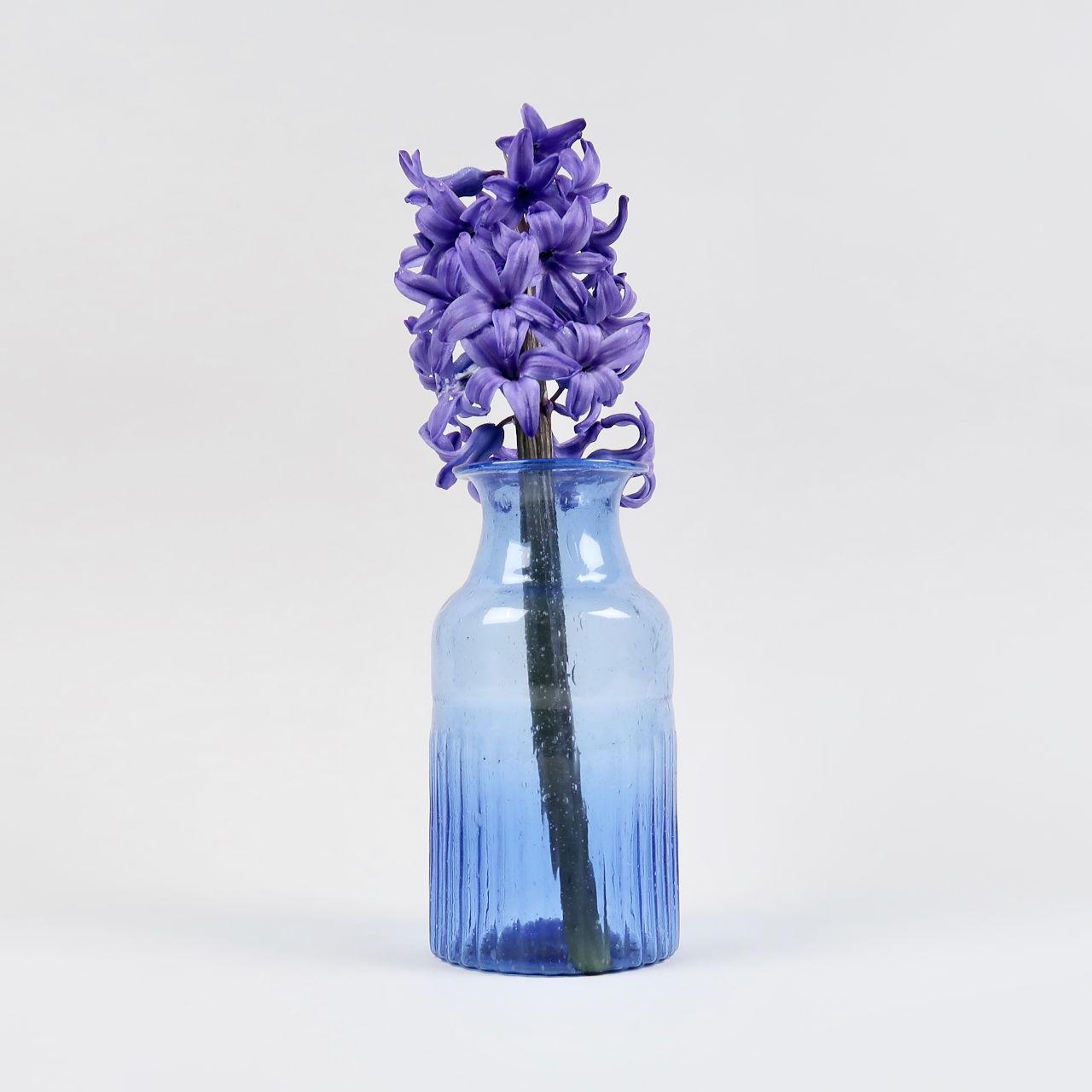Ribbed Bottle Cobalt Blue