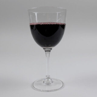 Wine Glass with Etched Stars