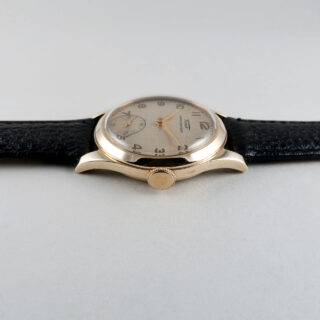 Tissot cal. 27 hallmarked 1947 | 9ct gold manually wound vintage wristwatch
