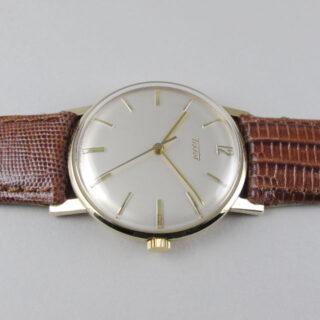 Gold Tissot vintage wristwatch, hallmarked 1960