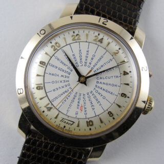 Gold capped Tissot Navigator Ref. 4002-2 World Time vintage wristwatch, circa 1952